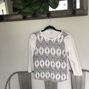 Jcrew factory embroidered T-shirt